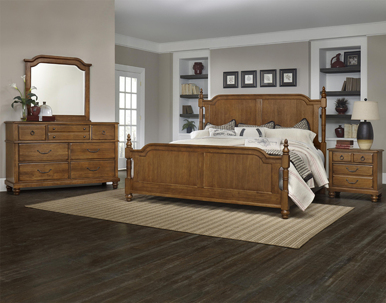 Liberty lagana furniture in meriden ct the arrendelle antique cherry bedroom by vaughan bassett for Discontinued bassett bedroom furniture