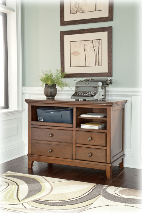 Liberty lagana furniture in meriden ct the 39burkesville for Ashley furniture home office collection