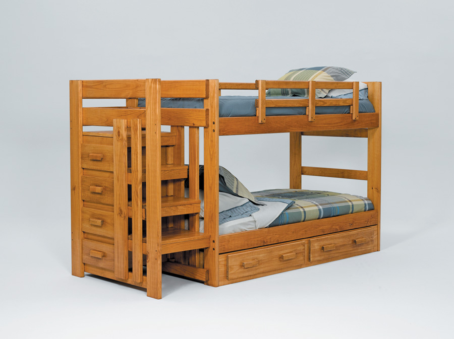 Liberty Lagana Furniture In Meriden CT The STH100 Twin Stairway Bunk Bed By Woodcrest