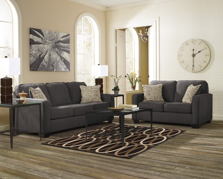 Liberty Lagana Furniture In Meriden Ct The Alenya Charcoal Living Room Collection By Ashley