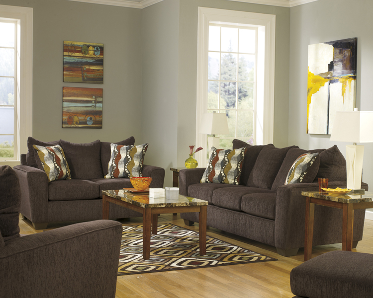Liberty Lagana Furniture In Meriden Ct The Brogain Walnut Living Room Collection By Ashley
