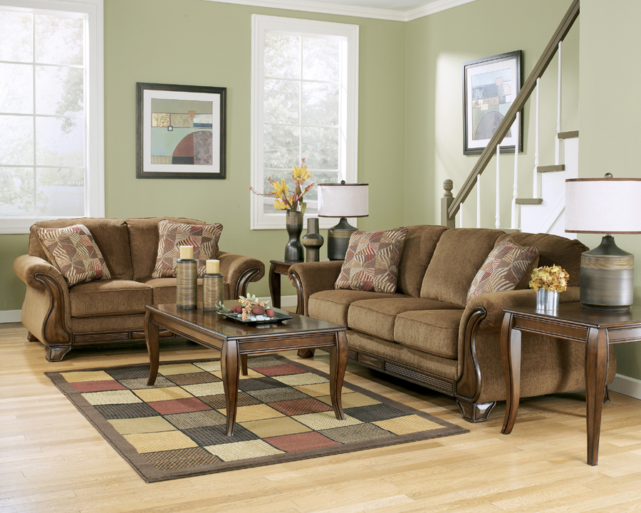 Liberty lagana furniture in meriden ct the montgomery mocha collection by ashley furniture for Montgomery mocha living room set