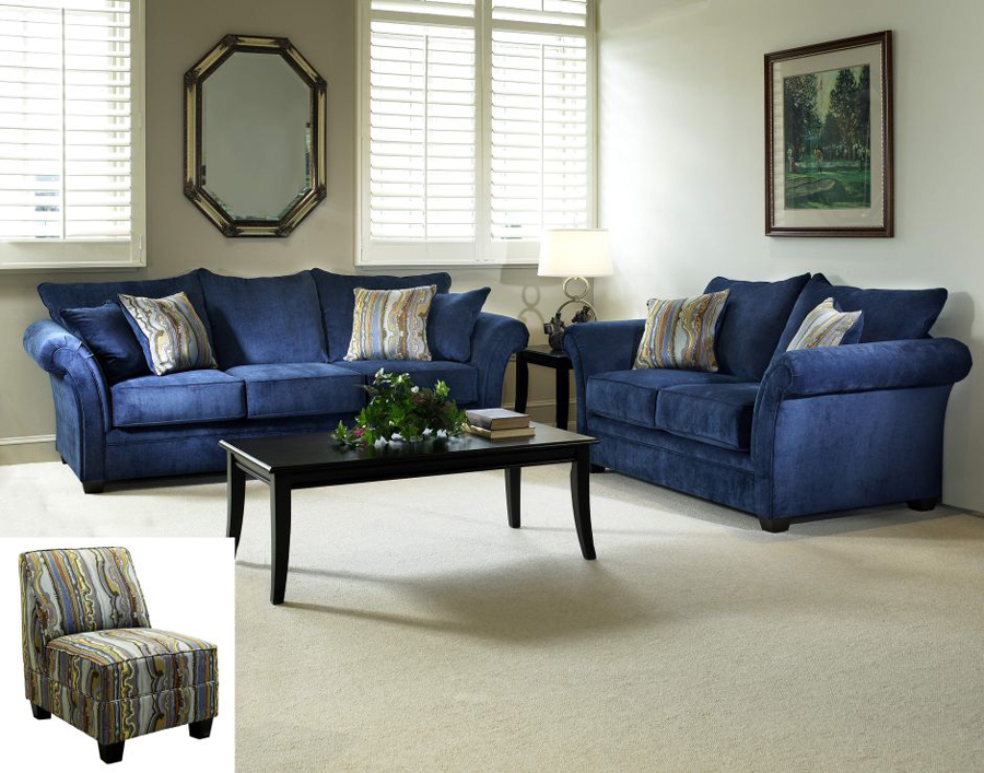 In meriden ct the elizabeth royal blue living room collection