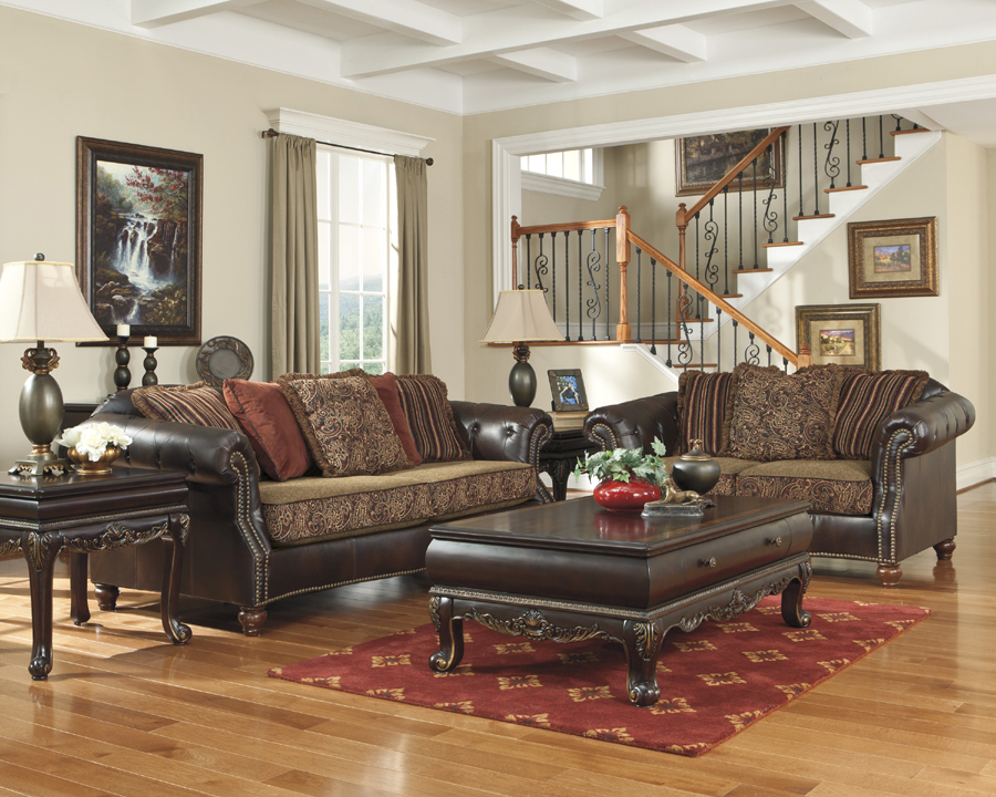 Old world living room furniture for Liberty lagana living room sets