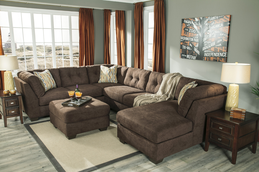 Liberty Lagana Furniture In Meriden CT The Delta City Chocolate Sectional By Ashley
