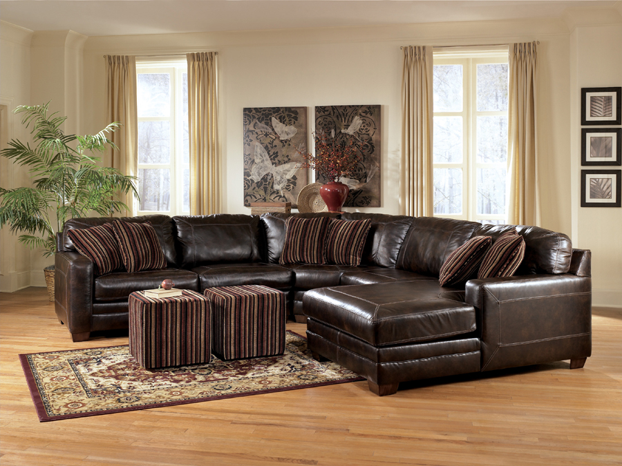 Liberty lagana furniture in meriden ct the pierce for Ashley brown sofa chaise