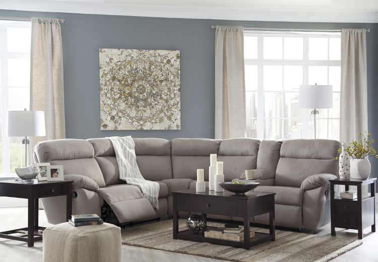 Liberty Lagana Furniture In Meriden Ct The Demarion Smoke Sectional By Ashley Furniture