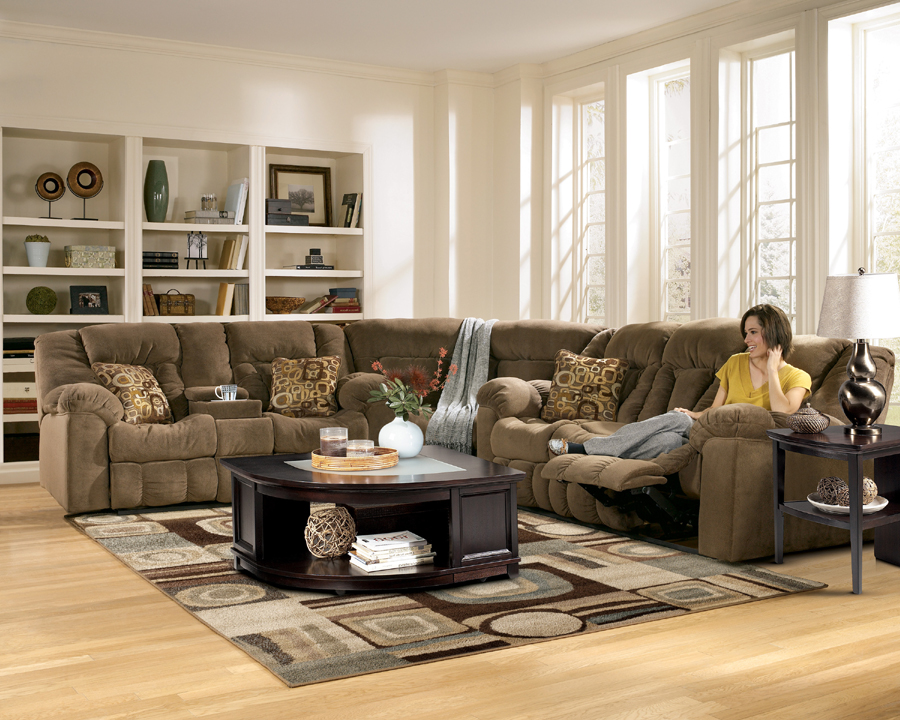 Liberty Lagana Furniture In Meriden CT The Macie Brown Sectiona