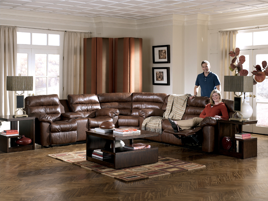 Liberty Lagana Furniture In Meriden Ct The Memphis Brown Sectional By Ashley Furniture