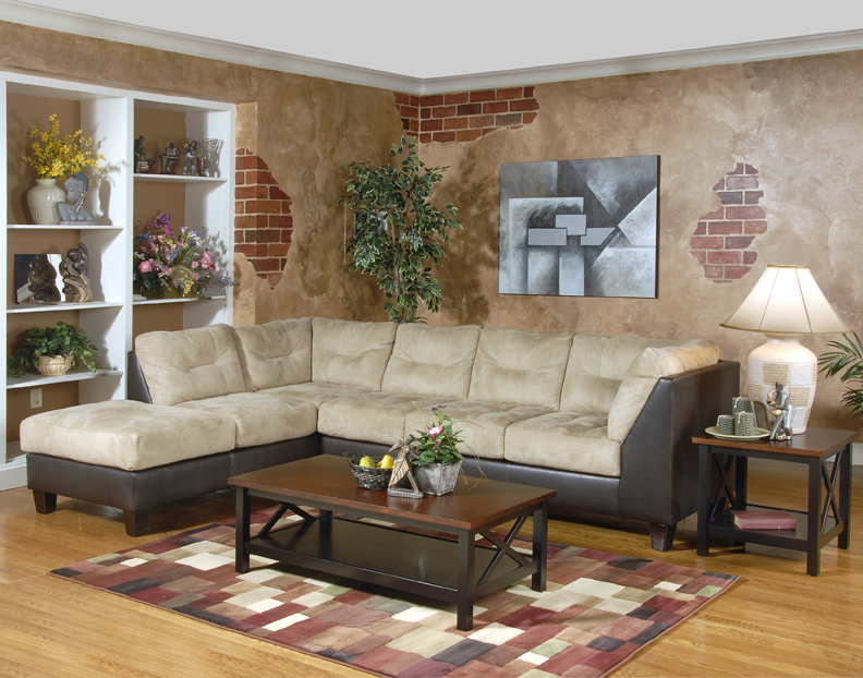Stylish bicast microfiber sectional for Sm living room furnitures